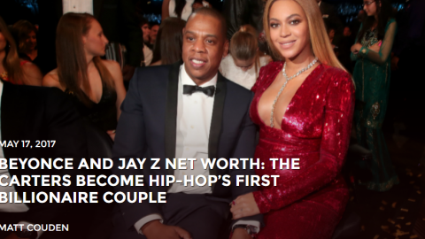 BEYONCE AND JAY Z NET WORTH: THE CARTERS BECOME HIP-HOP'S FIRST BILLIONAIRE COUPLE